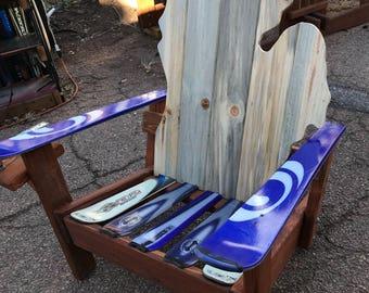 Michigan Adirondack ski chairs