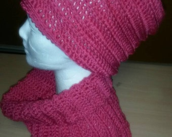 Textured Hat and Scarf Set