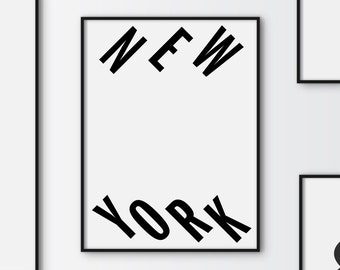 New york Poster, Typography Map, Graphic art, USA, Art Typography Poster, New york wall art, Brookyln Poster, NYC Print, NYC Art