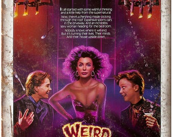 "Weird Science Movie Poster John Huges 10"" x 7"" Reproduction Metal Sign I03"