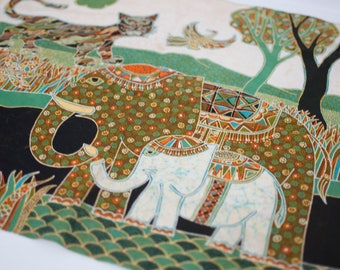 vintage animal nursery fabric  - for stretching on canvas