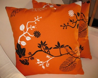 INVENTORY SALE - A Pair of Birds in Trees 18 inch Cushion Cover