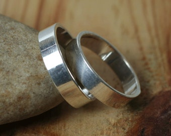 Silver plated band ring blank, 2 pcs (item ID FA01264SP)