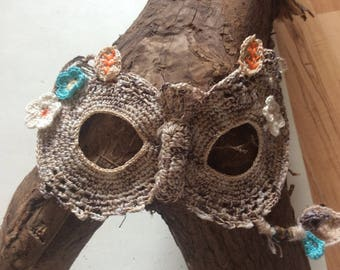 Woodland Wedding, festival or celebration owl masquerade mask, made to order