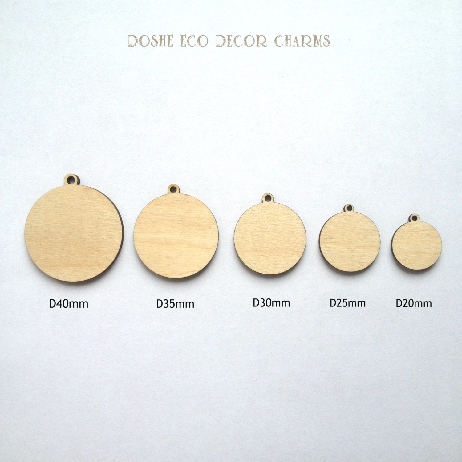 Unfinished laser cut round wood pendants jewelry blanks zoom mozeypictures Images