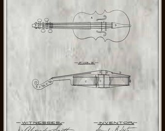 Violin Patent #215023 dated May 6, 1879.