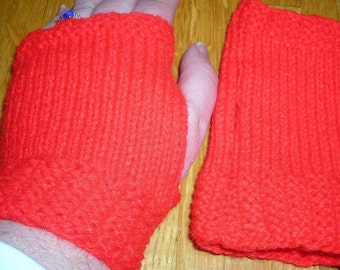Fingerless Gloves Red Knitted Gloves Unique Stocking Stuffer Accessory Cellphone Accessory