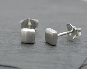 925 Silver, 5 mm square earrings