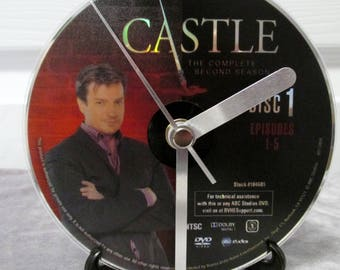 Castle DVD Clock Upcycled TV Show (Season 2, Disc 1)