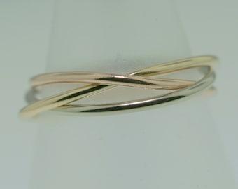 Borromean Rings in 14k Gold- 3 colors