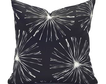 Outdoor Pillows Outdoor Pillow Covers Decorative Pillows ANY SIZE Pillow Cover Black Pillows Premier Outdoor Sparks Black
