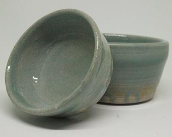 Teal Green Celadon Stacking Pottery Bowls, Handmade Pottery, Ceramic Bowls, Stacking Bowls, Pottery Bowls