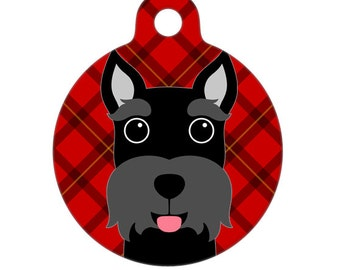 Pet ID Tag - Scottie Dog Pet Tag, Dog Tag