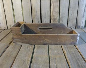 Vintage Tool Tote, Wooden Tool Tote,