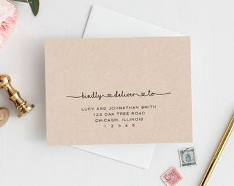 Envelope Addressing Etsy - Wedding invitation envelope address template