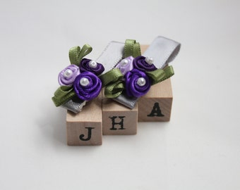 Baby girl/children/flower girl hair clips - flower bouquet