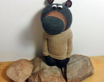 Black Bear Sock Animal