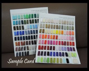 Sample Card - Herringbone Cotton Twill Tape Standard Color Chart 200 Colour Sample Cards