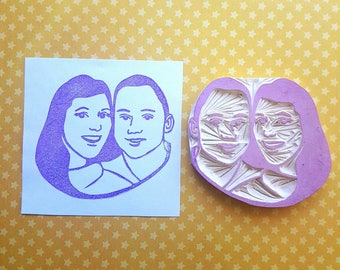 Couples Personalized Stamp - Engagement, wedding, customized, rubber stamp