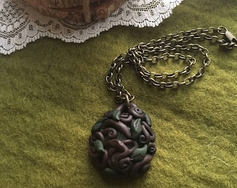 Large Enchanted Druid Pendant Necklace