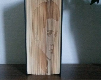 Elvis Partial Cut and Fold Book Folding Pattern (measure and mark format)