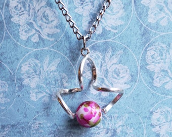 Floral Sphere Necklace