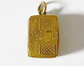 VICTORIAN Vinaigrette Pendant   Vinaigrette Charm Pendant   Alternative Locket Necklace   Antique Vinaigrette