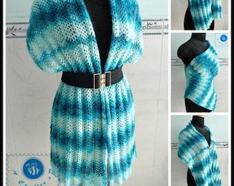 Ocean Tides Wrap pdf crochet pattern