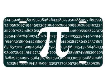 Pi math geek nerd 3.14 novelty metal vanity tag license plate