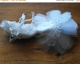 TAX SEASON Stock up 100 Pack Translucent White Vellum Style PVC Price Tags