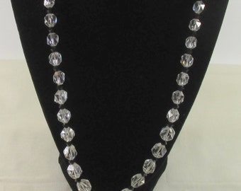 Glass Beaded Crystal Vintage Necklace
