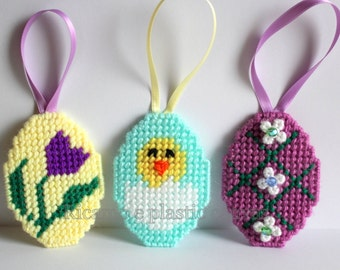 Easter Eggs Decorations, Easter, Spring Decor, Home Decor, Happy Easter, Easter Egg, Handmade Decorations, Plastic Canvas