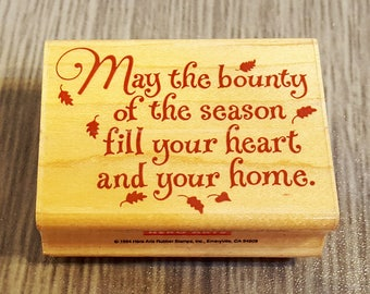 May The Bounty Rubber Stamp from Hero Arts
