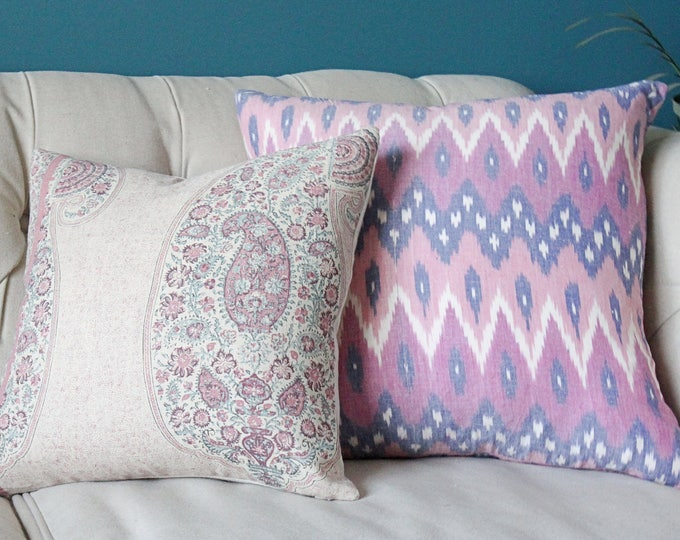 Peter Dunham - Isfahan in Raspberry - Pink Pillow Cover