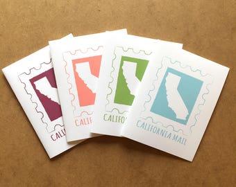 California Greeting Card, California Gifts, Greetings from California, Made in California, California State Love, California Map, State map