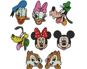 Mickey Mouse Embroidery Design - 8 Disney designs INSTANT DOWNLOAD