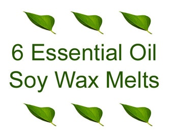 ESSENTIAL OIL Soy Tarts - Essential Oil Wax Melts - Choose 6 fragrances - Soy Wax Melts - 6 Clamshell Soy Tarts - Dye Free Soy - soyNsuds