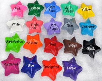 Star Crayons, Star Party Favors, Star Shaped Recycled Crayons, Total of 19.  Boy or Girl Kids Unique Party Favors, Crayons.