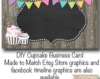 Cupcake business card template gallery business cards ideas cupcake business etsy cupcake business card template cupcake confetti fun made to match etsy sets and cheaphphosting Image collections
