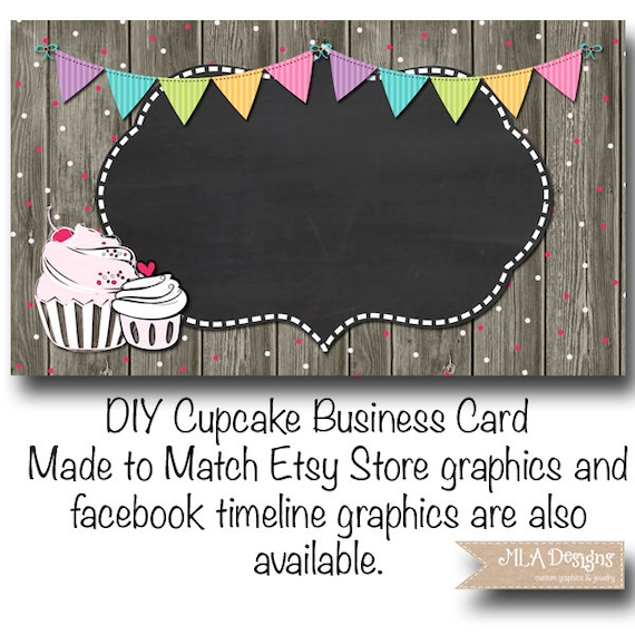 Cupcake business card template cupcake confetti fun made cupcake business card template cupcake confetti fun made to match etsy sets and facebook timeline covers wajeb Images