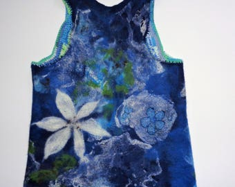Tunic, felted top, sweater, vest, felted clothing,
