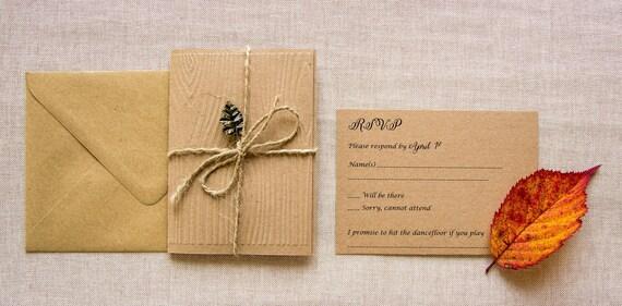 Wald Hochzeit Einladung Holz Hochzeit Laden Eiche Hochzeit