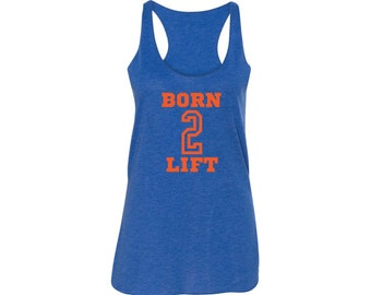 Weight Lifting Tank top, Royal, Tank Top, Flowy relaxed fit