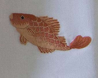 Machine Embroidery Design Red Fish