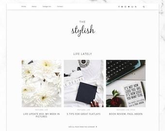 Stylish Blogger Template / Responsive Blogger Template / SEO optimized & professional / Lifestyle + Fashion Blog Design
