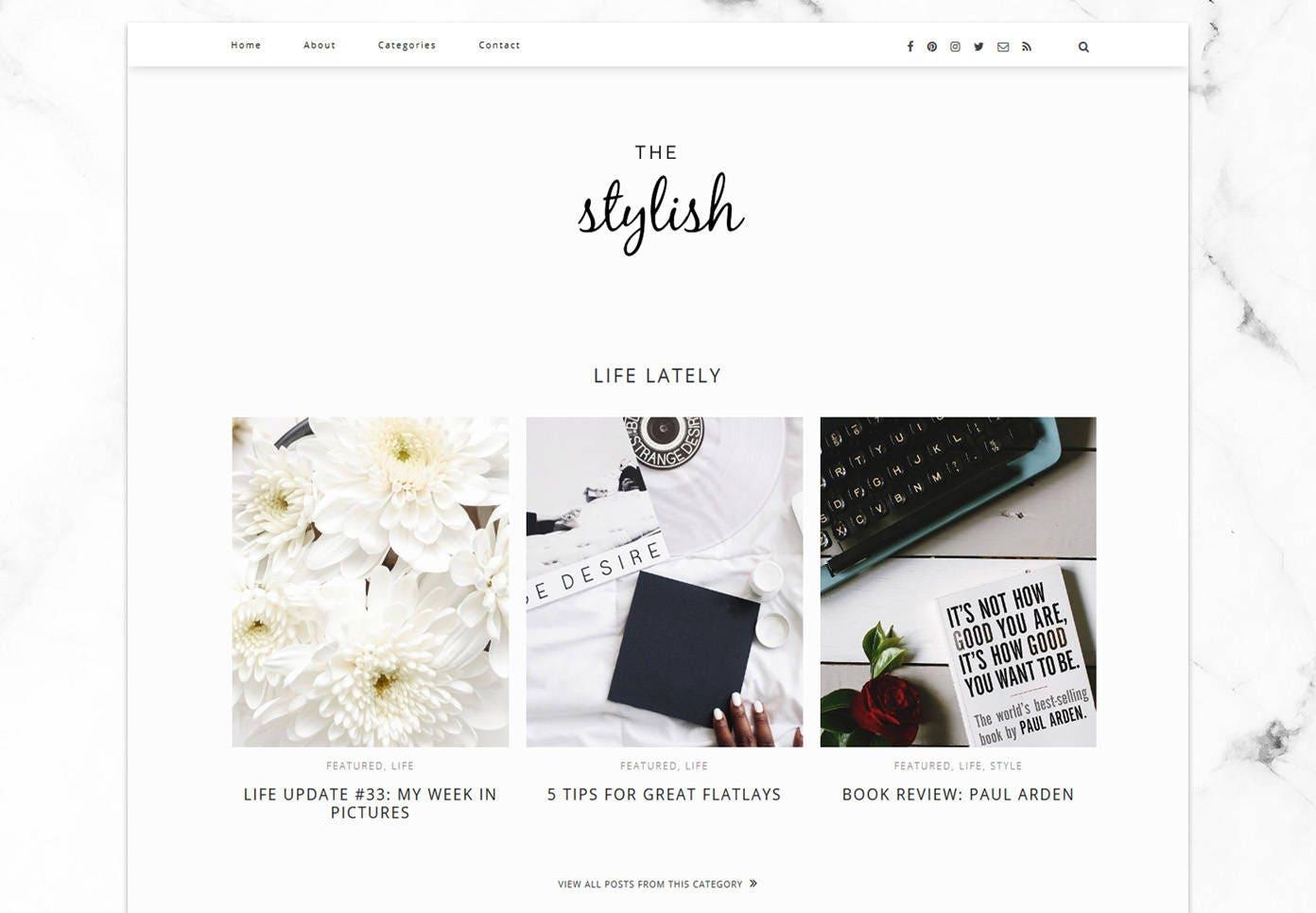 Stylish Blogger Template / Responsive Blogger Template / SEO