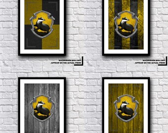 Harry Potter Hufflepuff House Crest Print Various Designs And Sets - A MUST HAVE GIFT Present For Any Harry Potter Fan