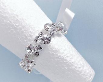 Rhinestone bracelet, Wristlet, Wedding bracelet,Bridesmaid,Bridal bracelet