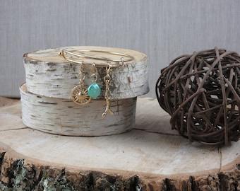 3 Charm Bangle Bracelet