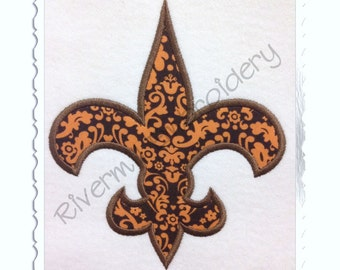Fleur De Lis Applique Machine Embroidery Design - 4 Sizes